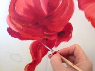 Poppie Painting-Step 2